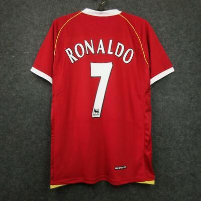 2006-2007 Ronaldo #7 manchester united Home retro Soccer jersey football Shirt image