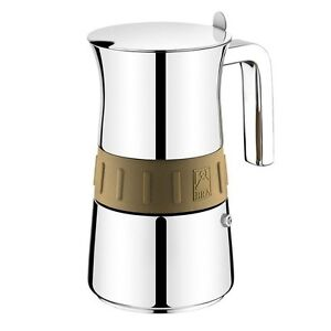 pintinox edelstahl espressokocher elegance gold f r bis zu 6 tassen ebay. Black Bedroom Furniture Sets. Home Design Ideas