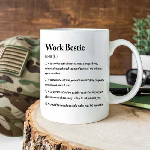 Funny Colleague Work Bestie Definition Mug, Coworker Gift Mug, Colleague Mug, Fu