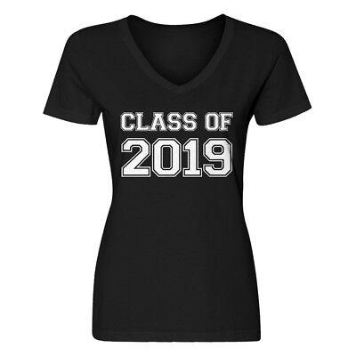 Womens Class of 2019 V-Neck T-shirt #3560 Class Womens V-neck T-shirt