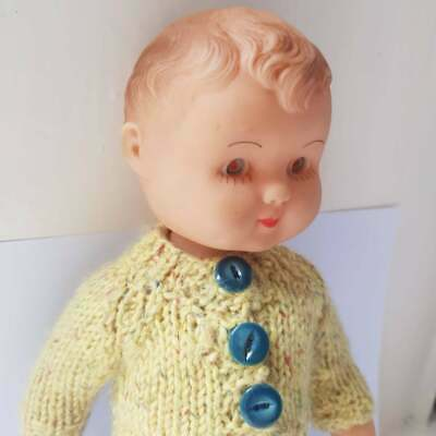 "12"" Vintage Boy Doll ROSEBUD Cute Old Baby Doll Infant Childhood Collectable"