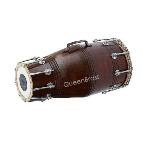 Drum Bolt Tuned Pro Quality Shesham Wood Dholak Dhol Bhajan Kirtan Yogadark