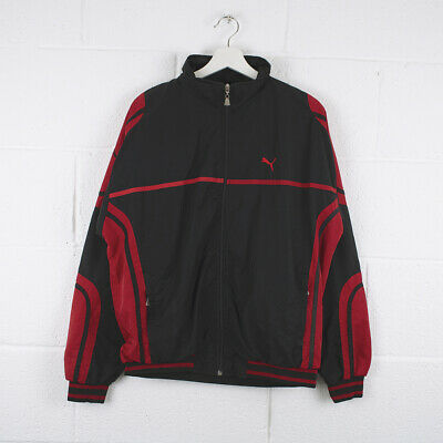 Vintage PUMA Black & Red Sports Track Jacket Size Mens Large /R43033