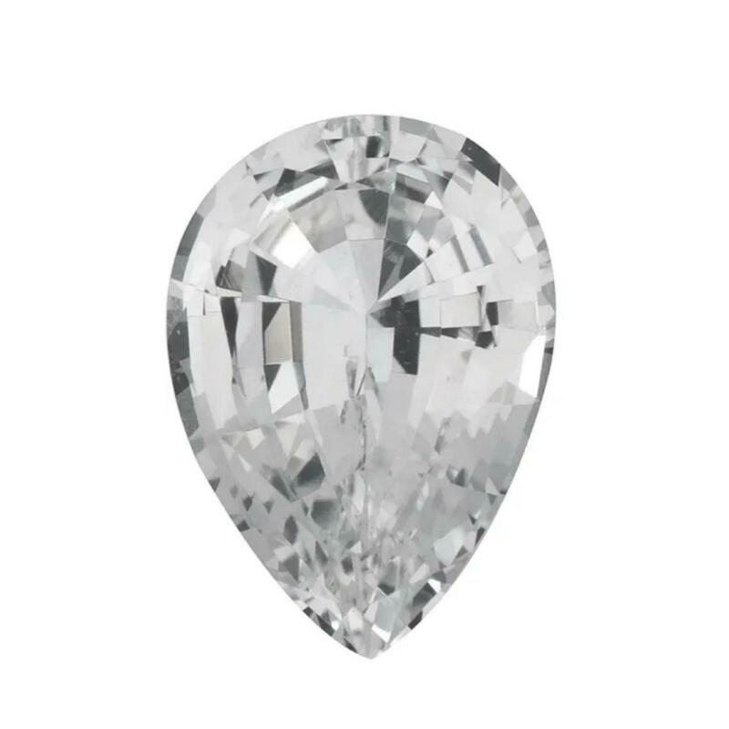 Natural White Sapphire Pear Faceted AA Quality Gemstone Available in 4x3MM-7x5MM