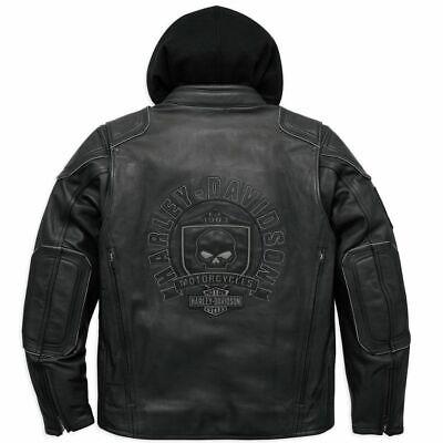 Harley Davidson Men AURORAL Willie G Skull Leather Jacket 3in1 XL LT 98097-16VM