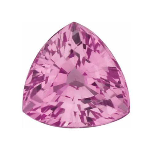 Natural Pink Sapphire Trillion Faceted AA/A Quality Gemstone in 3x3MM-6.5x6.5MM