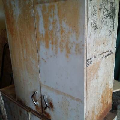Vintage Youngstown Metal Kitchen Cabinets Rusty US SHIPPING OR FREE CA PICK UP