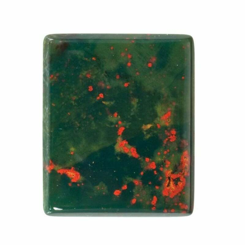 Natural Bloodstone Cushion Buff Top-cut Calibrated Cabochon in 10x8MM-16x12MM