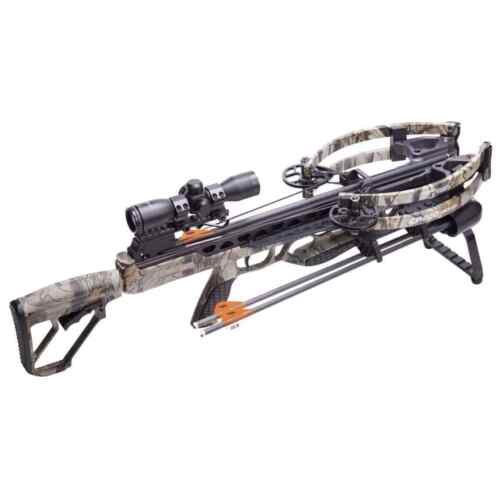 NEW 2021 CenterPoint CP400 Crossbow Package RAVIN R LIMBS Camo 400fps!