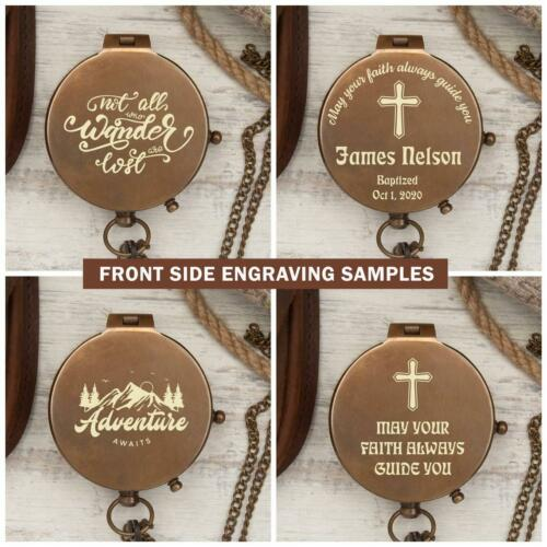 Personalized Engraved Working Compass