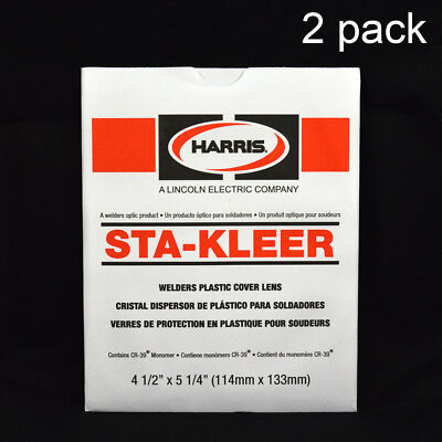 Harris Welding Hoodhelmet Large Clear Lens Cover 4.5 X 5.25 2 Pack 1010140
