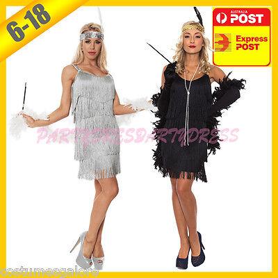 OP 118 Ladies Costume Fancy Dress Up Flapper 1920s Charleston 20s Boa Size 6-18 - Charleston Dress Up
