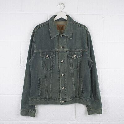 Vintage GAP Classic Blue Trucker Denim Jacket Size Mens Large /R57022
