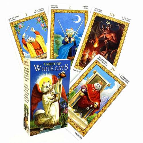 Tarot of White Cats Deck Super Cute Cat Tarot Cards Tarot card Deck Mini