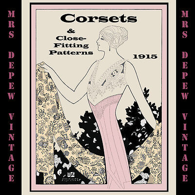 Vintage Sewing Book 1910s Corsets and Close-Fitting Patterns Ebook How To on CD