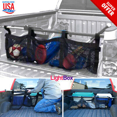 Truck Bed Cargo Folding Bag Large Stabilizer Bar Management Net Camping Travels Truck Bed Cargo Bar