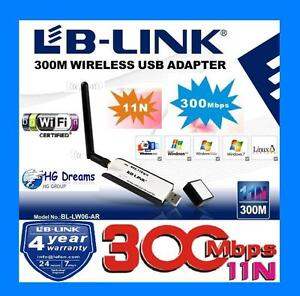 300Mbps USB Wireless N WiFi Adapter Dongle 802.11 bgn 5dBi high gain Antenna W8