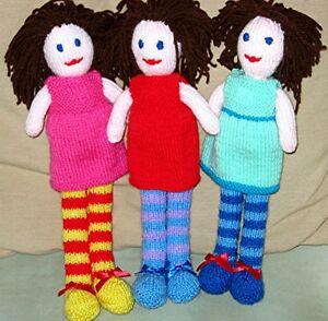 Rag doll knitting pattern ebay