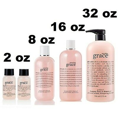 NEW Philosophy Amazing Grace Shampoo, Bath & Shower Gel 2 8 16 32 oz U