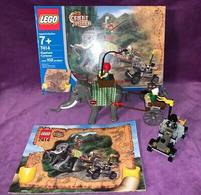 Lego Orient Expedition Elephant Caravan (7414) 100% Build Complete RARE W/ BOX
