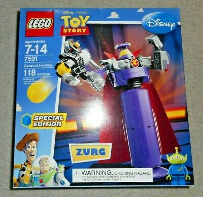 NEW Lego TOY STORY Construct-a-Zurg 7591 LOW Ship ALIEN figure Sealed RETIRED