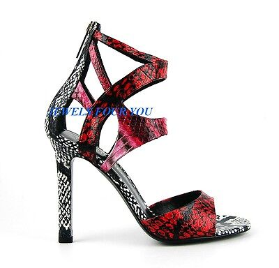 TAMARA MELLON SHOES DESIGNER JIMMY CHOO FATALE SNAKE LEATHER 5