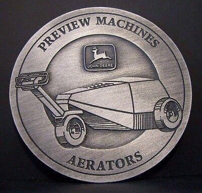 - John Deere Aerator Preview Machines 1995 Feedback Pewter Medallion Golf & Turf