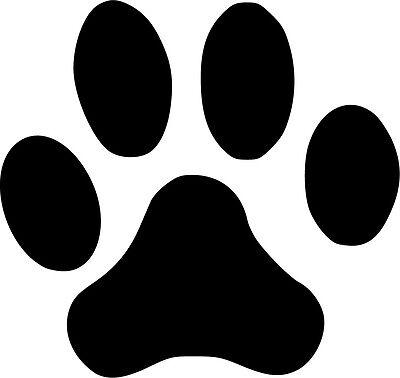 Paw Print Vinyl Sticker Decal Wildlife Animal Pets - Choose Size & Color Animal Print Sticker