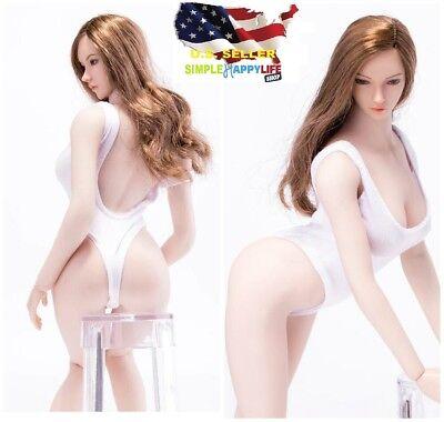 1//6 Women Tank Top /& Underwear WHITE For Phicen Hot Toys Female Body  USA SELLER