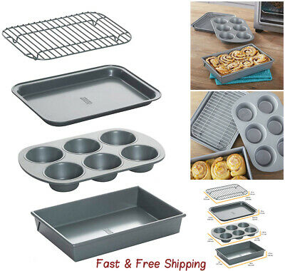 Non-Stick Toaster Oven Bakeware Set 4-Piece Carbon Steel- Premium quality