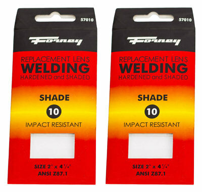 2pack Forney 57010 Replacement Welding Safety Lens Eye Uv-ab Protector Shade 10