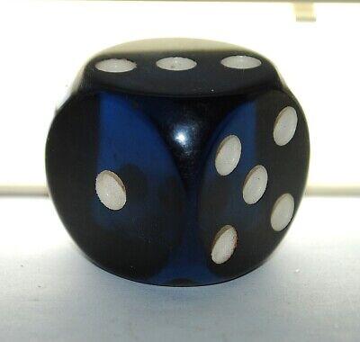 very rare old German blue faturan dice 33mm/45grams