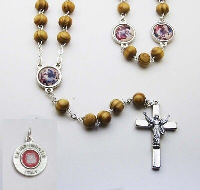 Stations of the Cross Rosary - Made in Italy - Bonus St Anthony Relic Medal
