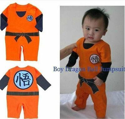 Dragon Ball Z Son Goku KungFu Hip hop Baby Bodysuit Party Cosplay Costume Dress (Dragon Ball Z Baby Costume)