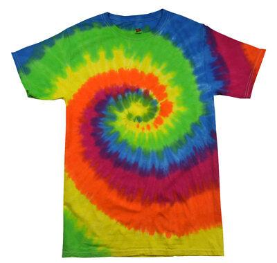 Moondance Tie Dye T-shirt (Multi-Color Moondance, Tie Dye T-Shirts, Youth XS - Youth L 14-16, 100% Cotton,)