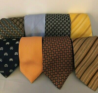 10 Givenchi Fendi Burberry Dior Moschino Mens Silk Tie Lot - Made in Italy