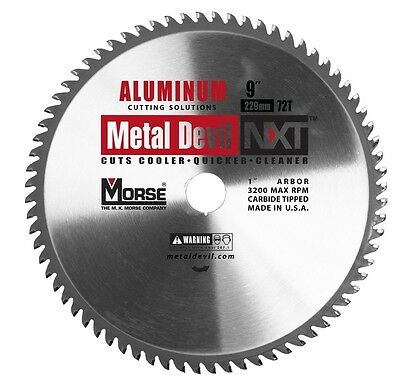 Mk Morse Csm972nac Metal Devil 9 In. 72t Aluminum Cutting Blade