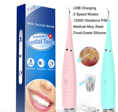 Electric Dental Calculus Stains Plaque Remover Tartar Scraper Teeth Whitening