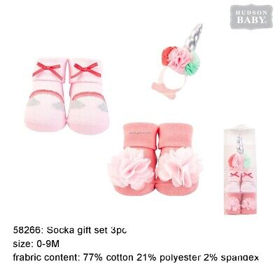 Hudson Baby Gift Set 1 Piece Headband, 2 Socks 0-9 Months