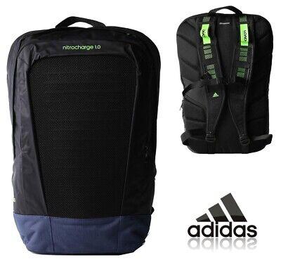 adidas Backpack School Bag Sports Gym College Nitrocharge Rucksack Black NEW