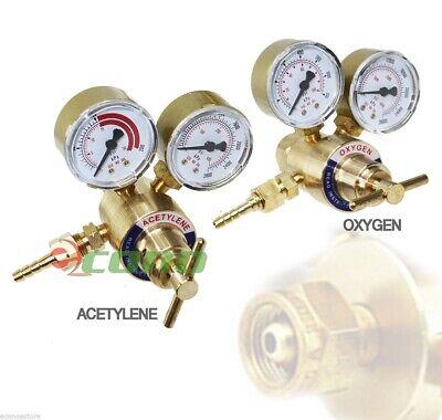 Brass Oxygen Cga540 Acetylene Cga200 Regulators Gauges 4 Gas Welding Torch Kit
