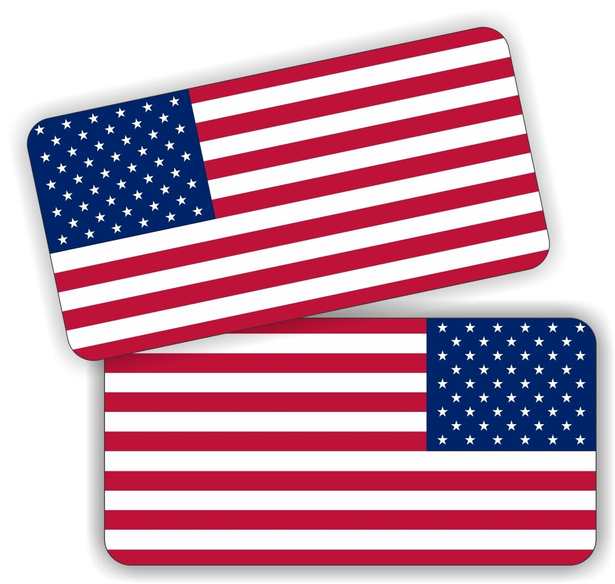 2x american flag hard hat stickers motorcycle