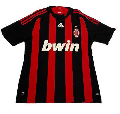 Adidas AC Milan Rossoneri Mens 2008 2009 Calcio Soccer Home Jersey Shirt Sz Med image