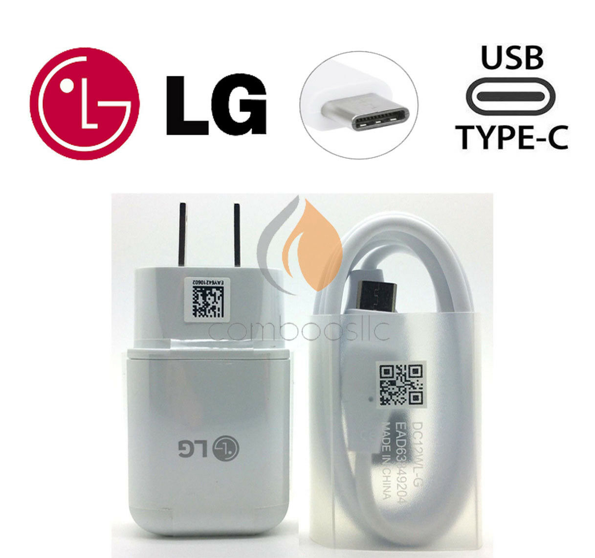 New OEM ORIGINAL LG Rapid Fast Wall Charger + Type C Cable F