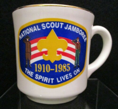 Boy Scout Coffee Tea Mug Cup National Scout Jamboree 1910-1985 75th Anniversary