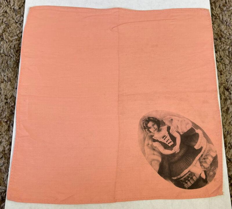"Vintage Rare 1930's SHIRLEY TEMPLE Handkerchief, 8x9"""