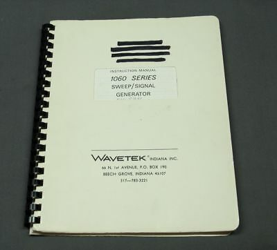 Wavetek 1060 Sweepsignal Generator Instruction Manual Vgc