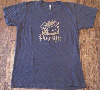 PUG LIFE Hip Hop Thug Life Parody Pug Dog Lover/ Owner S/S T Shirt Size M