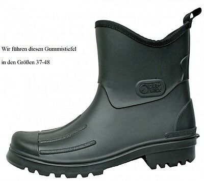 Hochwertiger Herren Gummistiefel Halbstiefel Dry Walk schwarz Peter Größe 37-48 ()