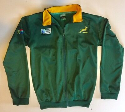 08adde50555 SA Rugby Springboks South Africa 2011 World Cup New Zealand size 14 Track  Jacket